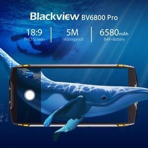 "Image 4 - البلاكفيو BV6800 برو 5.7 ""الهاتف الذكي IP68 مقاوم للماء MT6750T ثماني النواة 4GB + 64GB 6580mAh بطارية لاسلكية تهمة NFC هاتف محمول"