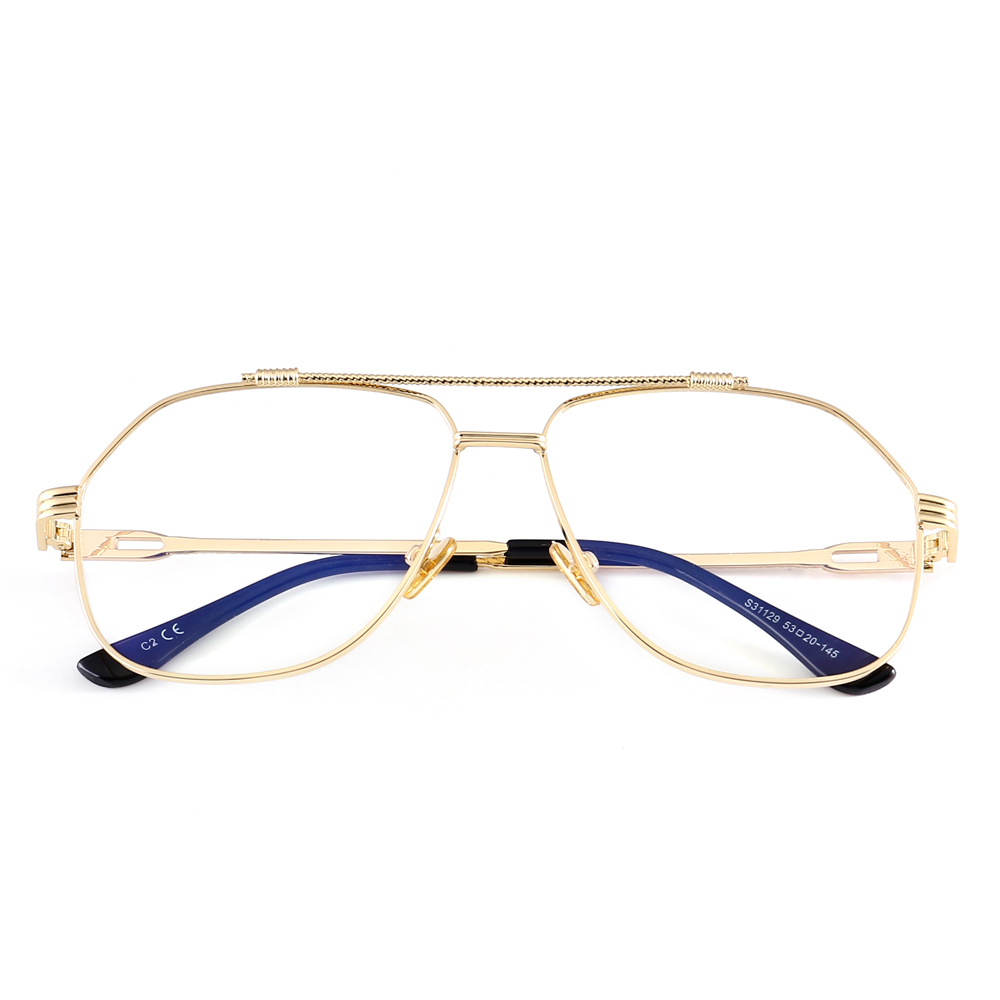 Peekaboo rechteck brillengestell frauen klare linse metallrahmen ...