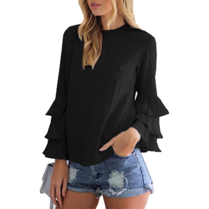 Mulheres Chiffon Blusa 2018 Personalizar qualquer cor tamanho grande dobrado camisa sem mangas chiffon blusa feminina Vestidos PM1