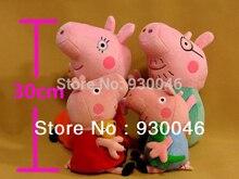 4pcs / set Pig Family Brinquedos Partihandel Fyllda Djur & Plush Leksaker För Baby Kids