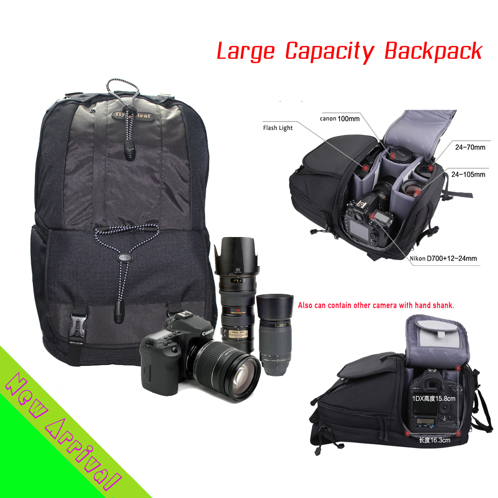 DHL Free-Shipping Large Capacity DSLR SLR Shockproof 1680D Waterproof Nylon Camera Backpack Bag For Canon EOS Nikon Sony Camera multifunctional slr dslr shockproof waterproof camera rucksack backpack travel bag for canon eos 100d nikon d3100 d3200 d3300