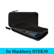 Original Exclusive Genuine Leather Wallet Case for Blackberry DTEK50 Zipper with Card Holder Cover Skin for Black Berry DTEK50