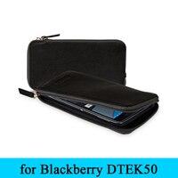 Original Exclusive Genuine Leather Wallet Case for Blackberry DTEK50 Zipper with Card Holder Cover Skin for Black Berry DTEK50