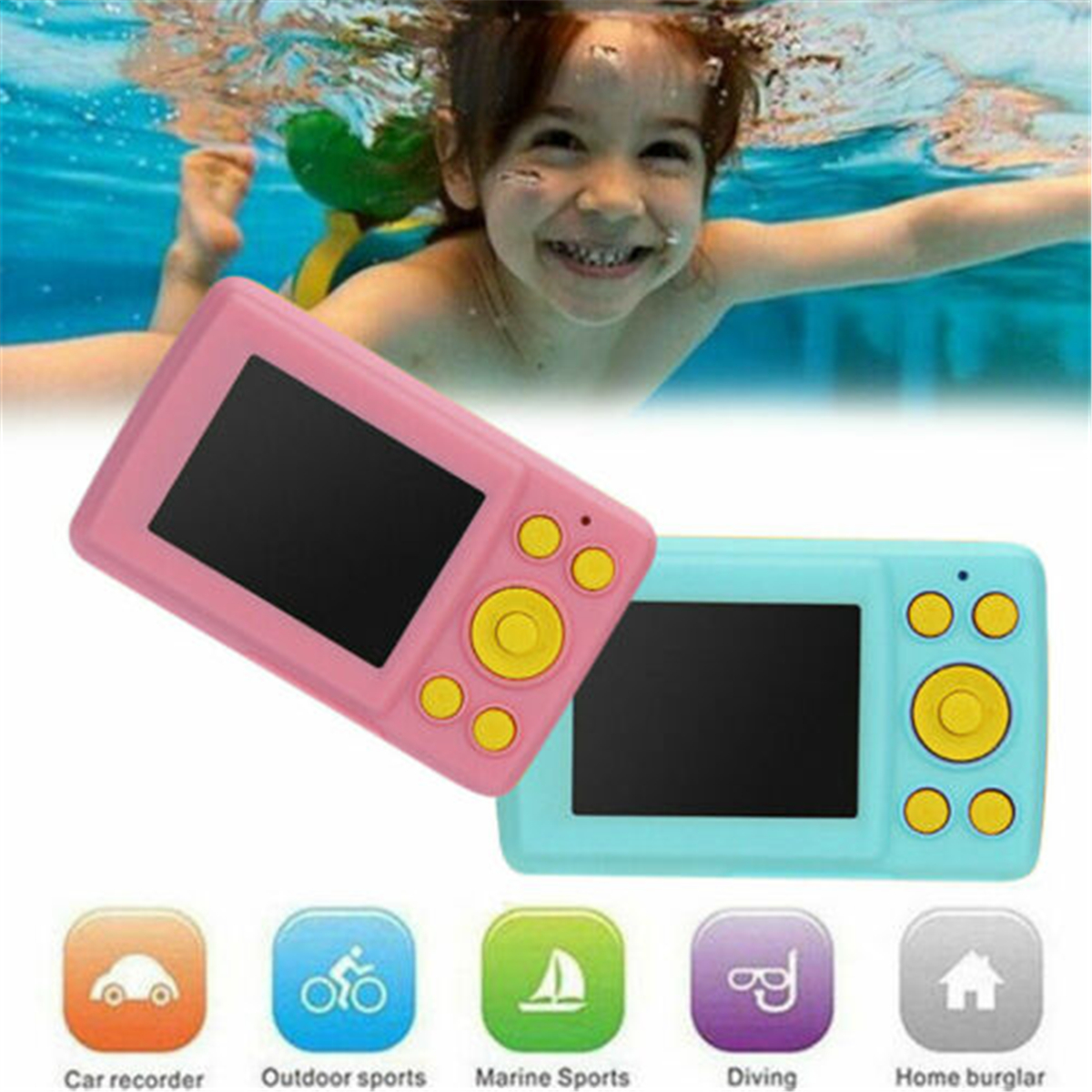 Waterproof Automatic Children Kids Digital Camera Cam Recorder Photo Xmas Gift(China)