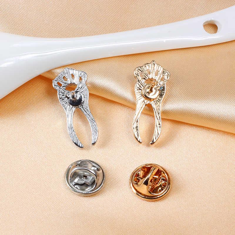 Medis Bros Gigi Pin Koleksi Kristal Gigi Emas Perak Perhiasan Mahasiswa Bros Ilmu Hadiah Dokter Perawat Lencana