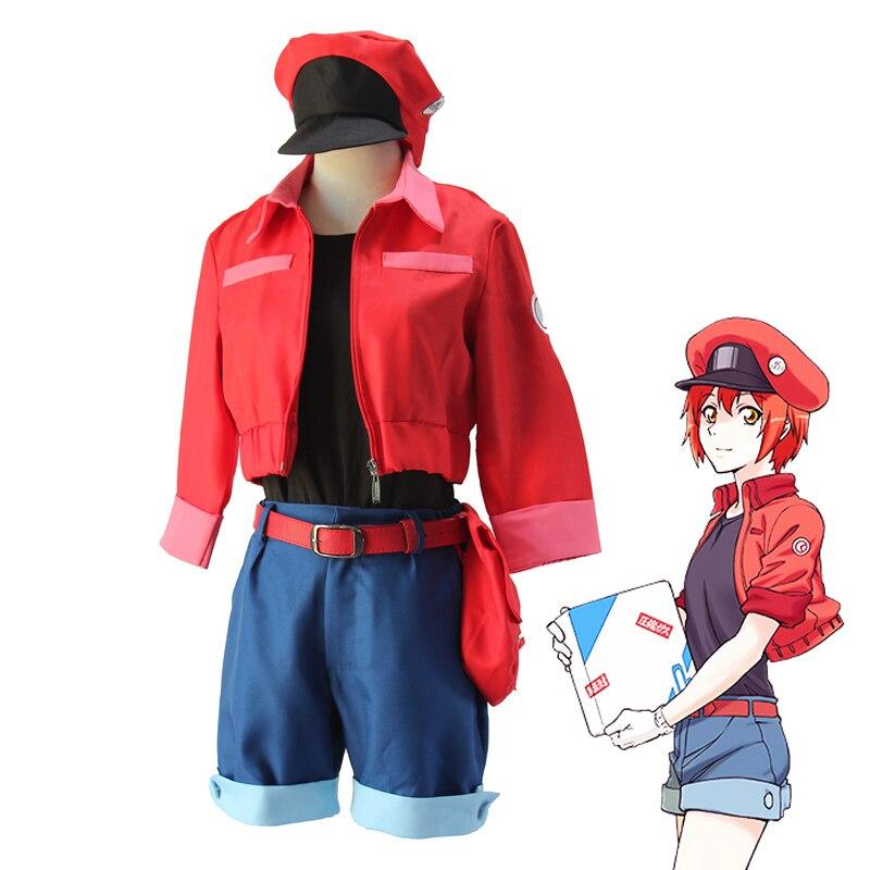 Anime Hataraku Saibou Erythrocyte Sekkekkyu AE3803 Cosplay Costume Cells at Work Women Uniform Suits
