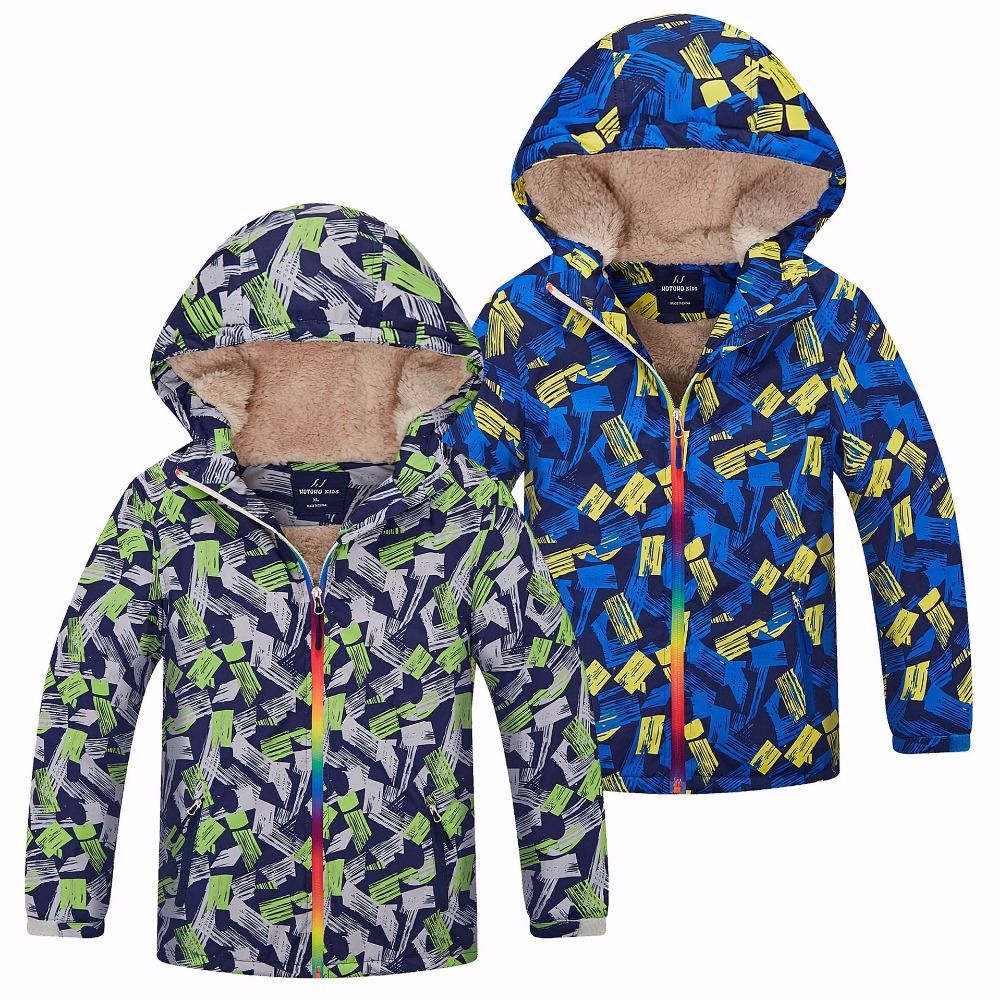 Водонепроницаемый индекс 5000 мм теплые Теплое Детское пальто ветрозащитный Куртки для маленьких мальчиков Повседневное детская верхняя од...