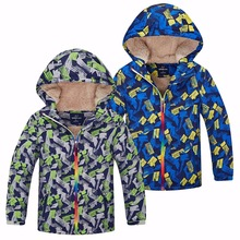 купить Waterproof Index 5000mm Warm Winter Child Coat Windproof Baby Boys Jackets Casual Children Outerwear Clothing For 3-12 Years Old дешево