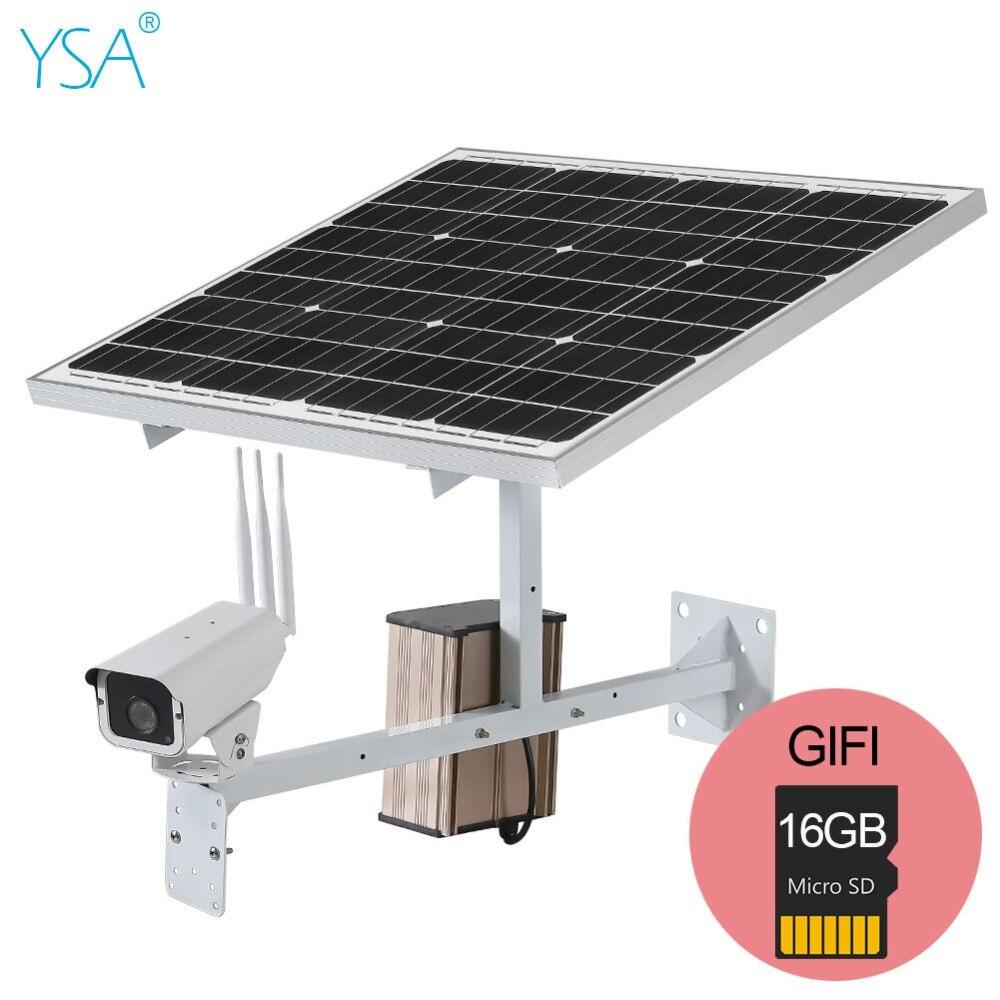 YSA 30 W panneau solaire 3G 4G SIM sans fil CCTV Surveillance IP caméra étanche extérieur 1080 P 960 P 720 P HD gratuit 16 GB carte SD