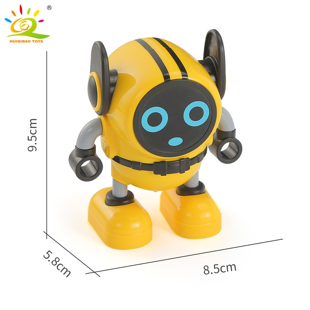 3color Funny Dance Robot Spinning Top with Launchers Multifunction Spinner Pull Back Car Educational Toys For Children Boy Gift