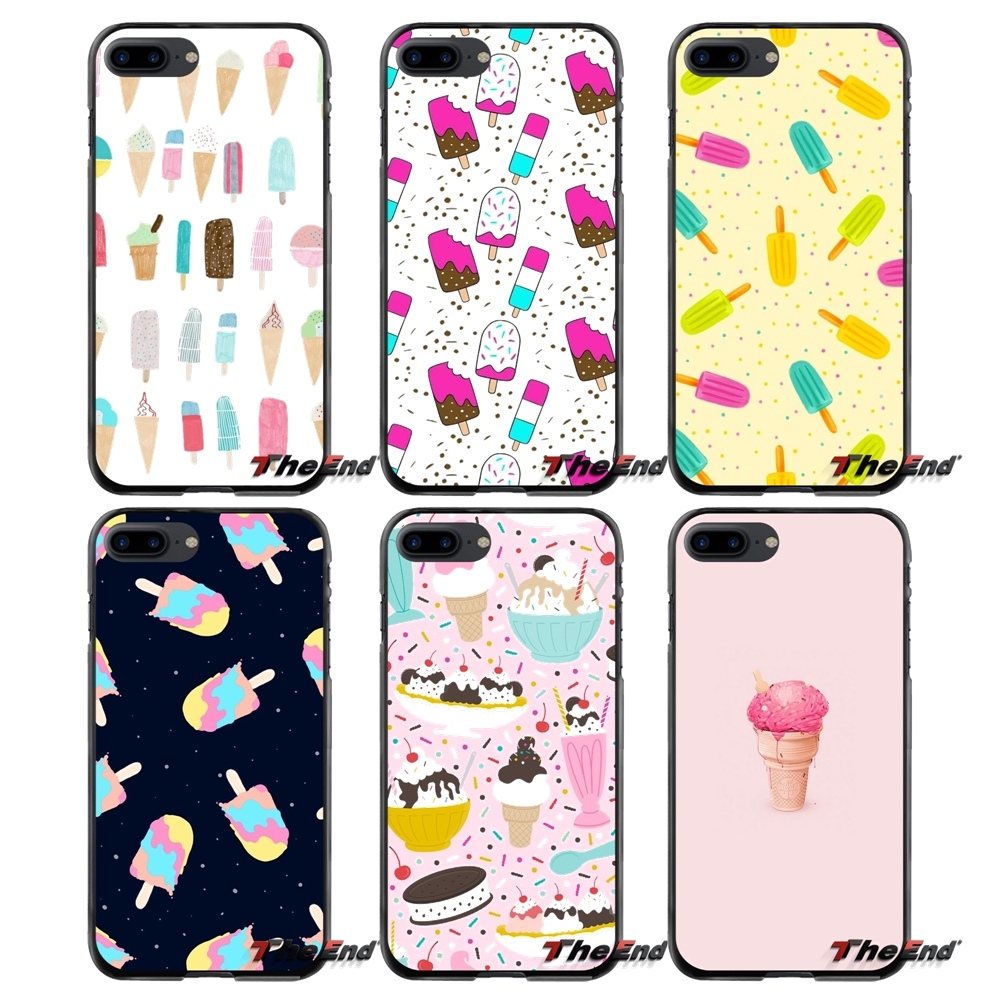 For Apple iPhone 4 4S 5 5S 5C SE 6 6S 7 8 Plus X iPod Touch 4 5 6 Ice Cream Cone Customize Accessories Phone Cases Covers