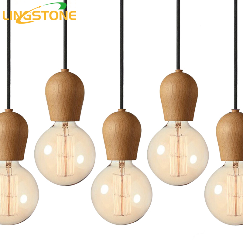 Modern Wood Pendant Lights Dining Room Cord Pendant Lamp Hanging Lighting Light Fixtures E27 Base Bedroom Suspension luminaire modern wood iron pendant lights dining room pendant lamp hanging lighting light fixtures led bedroom suspension luminaire