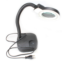 High Quality Magnifying Glass LED Light Lamp Desk Magnifying LED Table Light Magnifier ALI88
