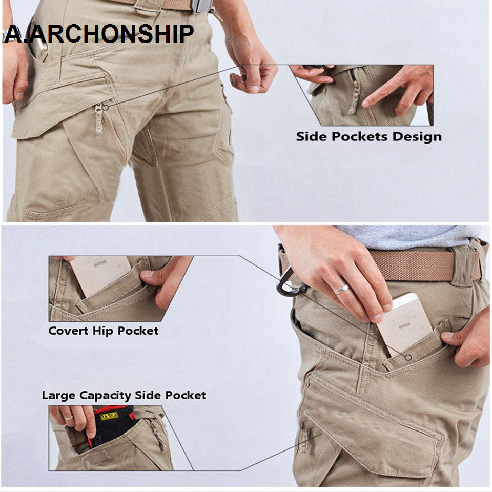 2019 IX9 II Men Militar Tactical Pants Combat Trousers SWAT Army Military Pants Mens Cargo Outdoors Pants Casual Cotton Trousers 3