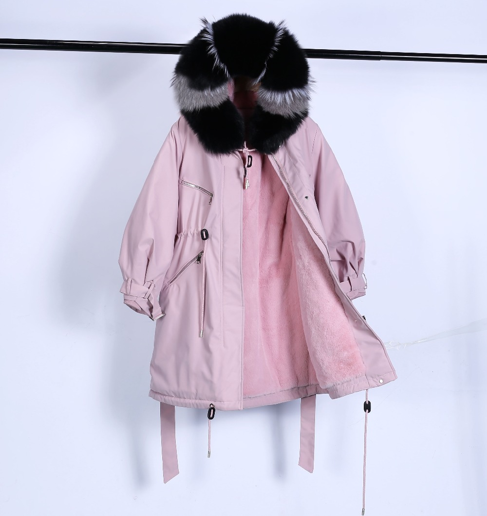 Large Natural Raccoon Fur Winter Jacket Women Hooded 19 Long Parkas For Female Thick Slim Down Winter Coat Women Waterproof 20