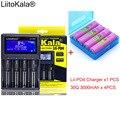 1 шт.  новинка  LiitoKala  lii-PD4  ЖК-дисплей  3 7 В  18650  21700  зарядное устройство + 4 шт.  3 6 В  18650  INR18650-30Q  3000 мАч  аккумуляторная батарея