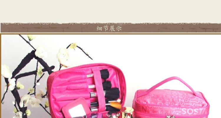 padrão necessário organizador saco de maquiagem armazenamento