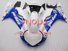 Blue/White Jordan for SUZUKI GSX R600 R750 01-03 GSXR 600 GSXR600 GSXR750 GSX-R600 750 K1 01 02 03 2001 2002 2003 Fairing Kit