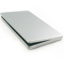 Silver Metal Rectangular storage box DIY blank Tin organizer box organizador caixa organizadora Casket Novelty households