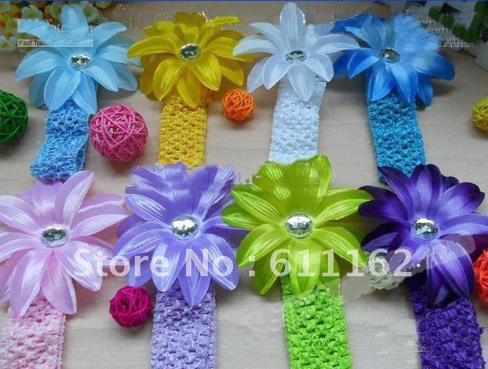 840 шт. лилии цветок волос Детские волосы украшают цветок Детские волосы для девочек высокое качество вежливость
