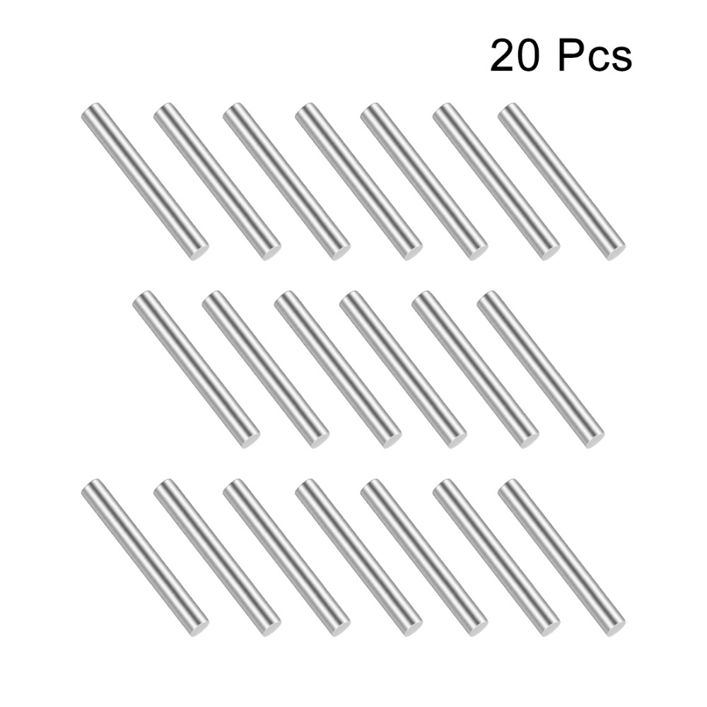 Uxcell 20Pcs Stainless Steel 10mm/20mm/30mm/40mm/45mm Long 1.5mm Diameter Shaft Round Rod Silver For DIY Toy RC Car Model Part