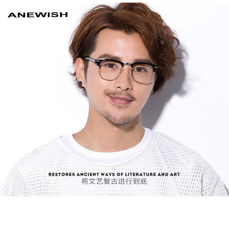 96d8b973c 2019 Brand Designer Fashion Men's eyeglasses frame Vintage Optical male  Reading glasses computer oculos de grau