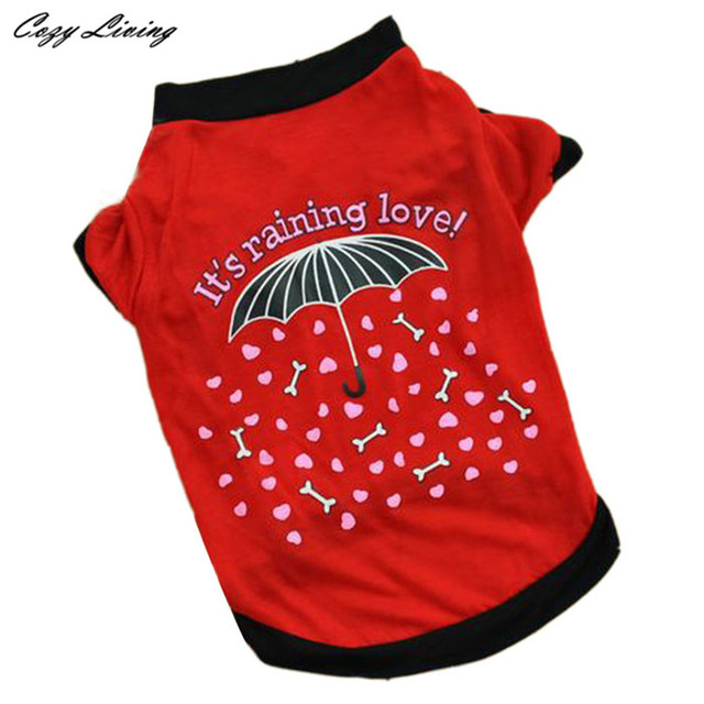 1 PC Pet Clothes For Small Dogs Cats XS-L Summer Pet Puppy Small Dog Cat Pet Clothes Vest T Shirt Apparel Letter Print D19