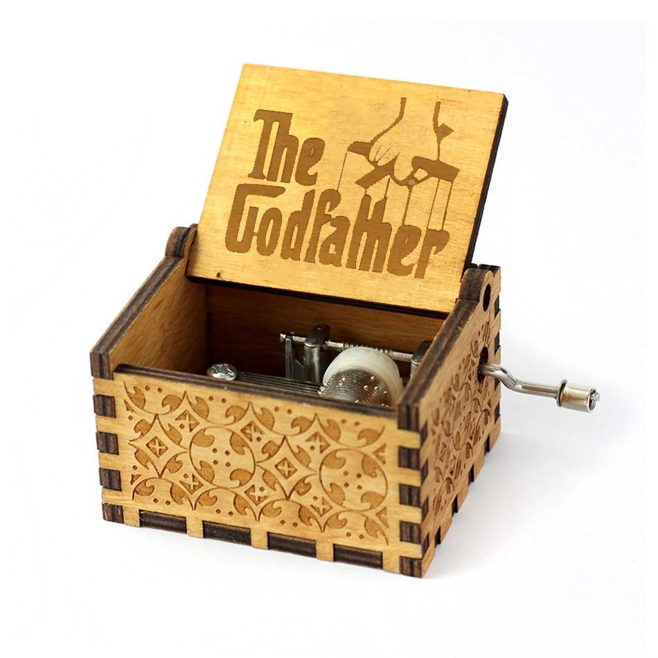 Новинка года. Музыкальная шкатулка в стиле королевы из дерева. Музыкальная шкатулка Zelda для детей/друзей. Подарок на Рождество. Подарок на день рождения - Цвет: The Godfather