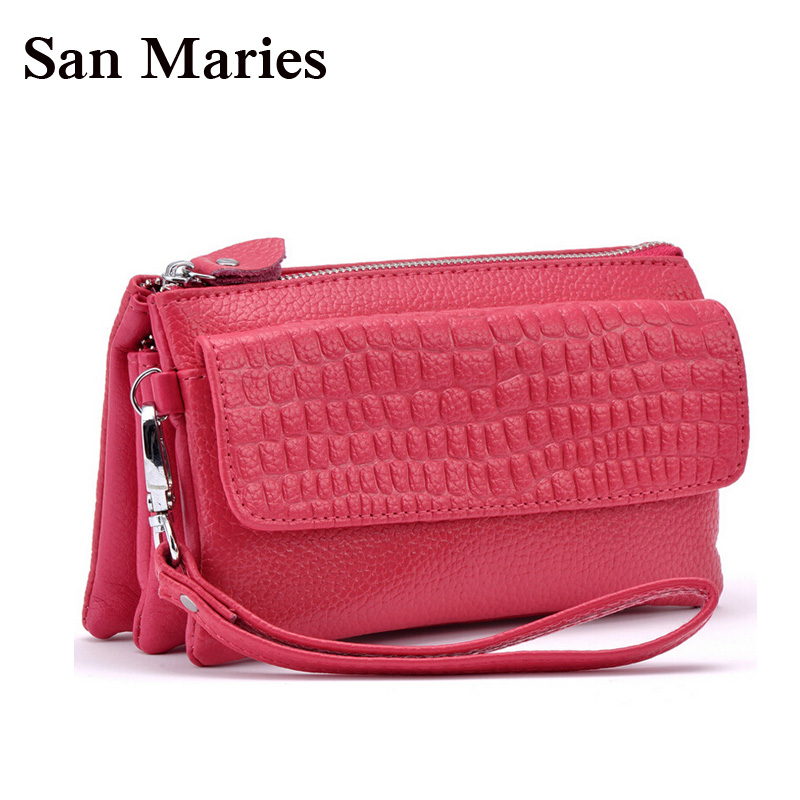 Women Handbag Purse Stone-Pattern Messenger-Bag Wristlet Leather Clutch Female Wholesale