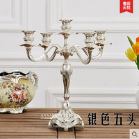 H32cm3/5arm retro candle hoders small size silver plated candle holder candle lantern for home decoration ZT052