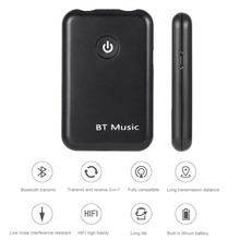 цена на 2 in 1 3.5MM  Wireless Audio car Bluetooth Receiver Transmitter Music Stereo Dongle Adapter for TV Smart PC DVD MP3 BHF03