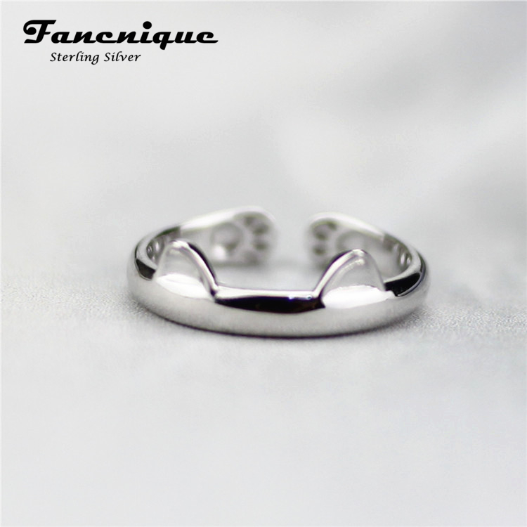aliexpress buy 925 sterling silver cat ear ring