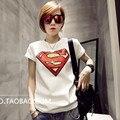 2017 Superman Camisetas Gráficas de Las Mujeres Mejores Amigos Camiseta Camisa De T Das Mulheres Camiseta Mujer Camisetas Para Las Mujeres la Ropa Tops