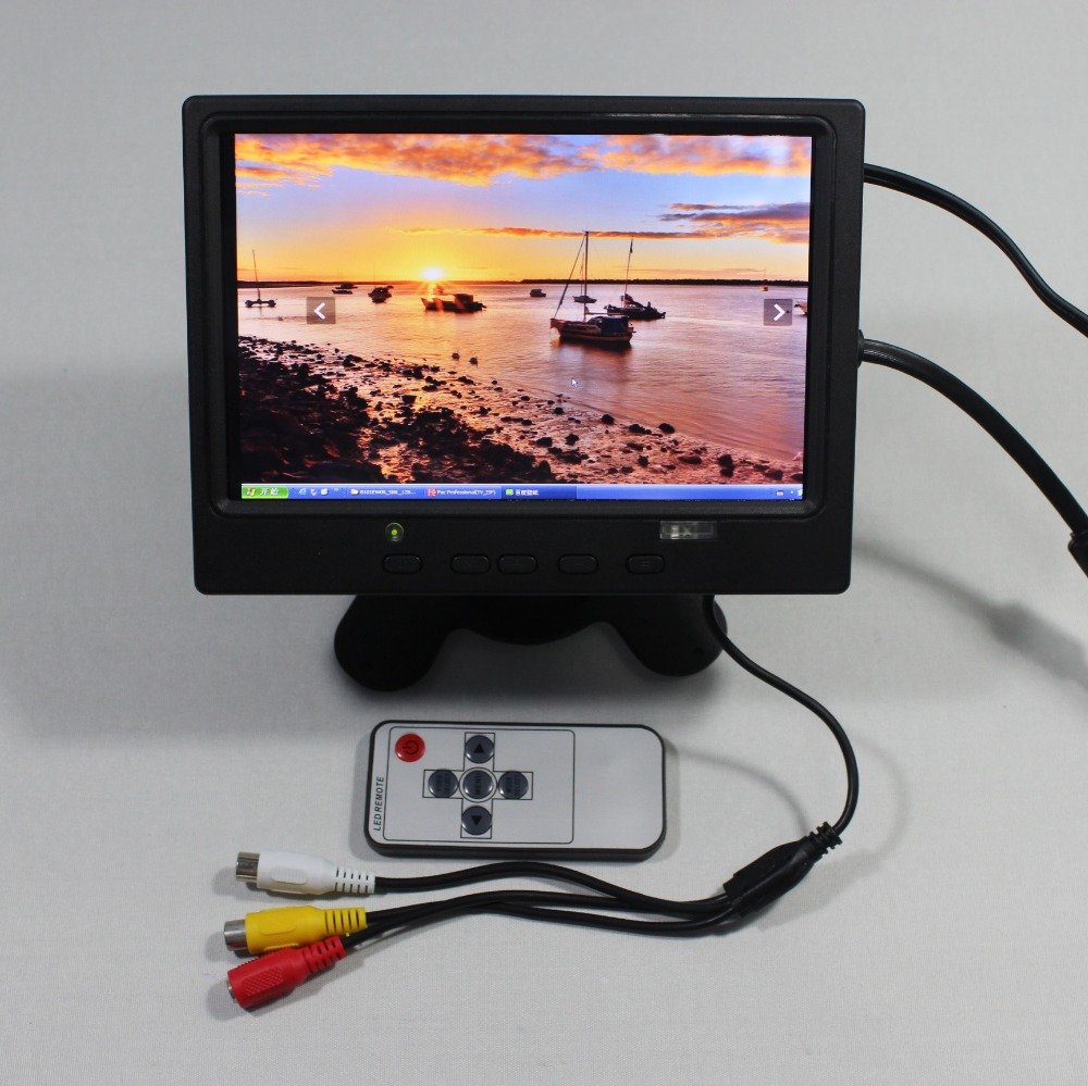 7inch Lcd monitor 1280*800 with HDMI+VGA+2AV+Reversing+Europe Power supply for bus monitor VS-T0702ERB-V1 aputure vs 5 7 inch sdi hdmi camera field monitor with rgb waveform vectorscope histogram zebra false color to better monitor