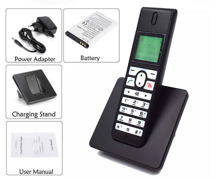 cfa5b12af ... GSM 3G WCDMA Wireless Telefon Landline Phone With SIM Card SMS Backlight  LED Screen Radiotelephones Cordless