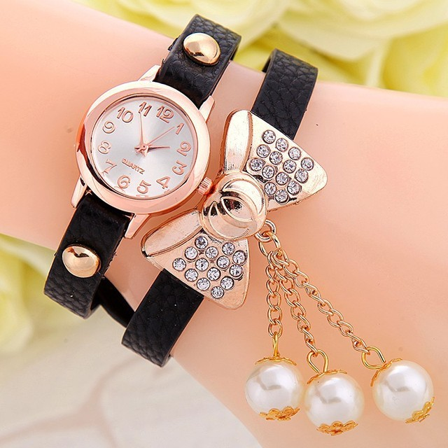 Fashion Bow Bracelet Ladies Watch relogio feminino Wrist watches for women Girl