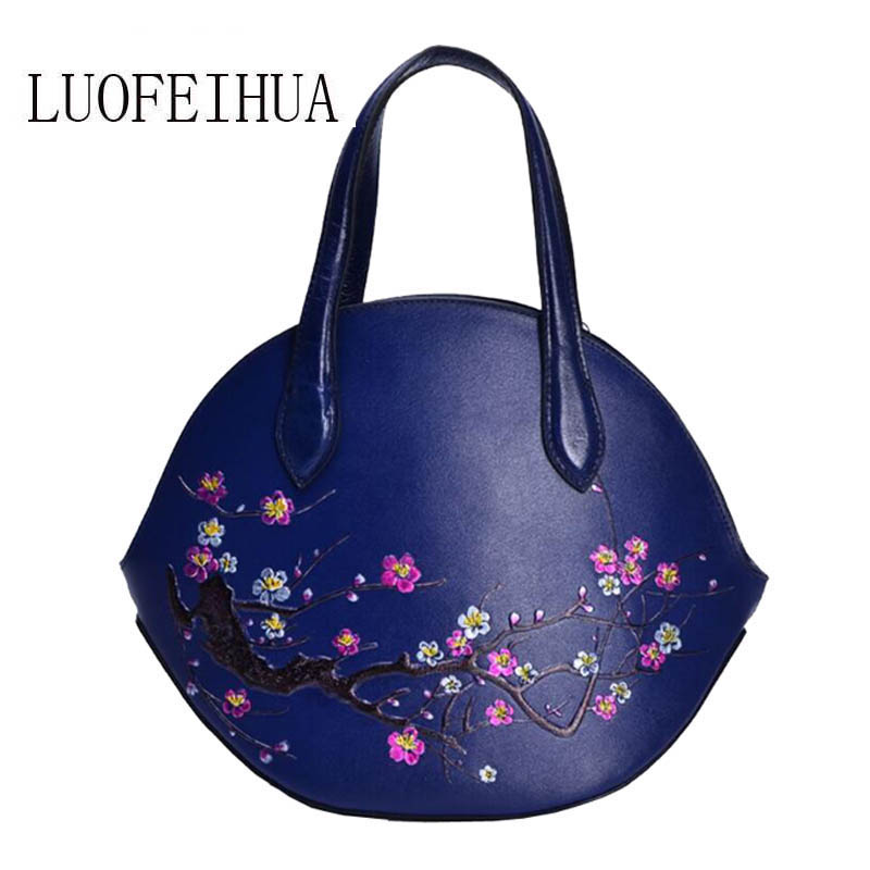 LUOFEIHUA Genuine Leather women bags for women 2019 new original hand-painted top layer leather embossed handbags Messenger bagLUOFEIHUA Genuine Leather women bags for women 2019 new original hand-painted top layer leather embossed handbags Messenger bag