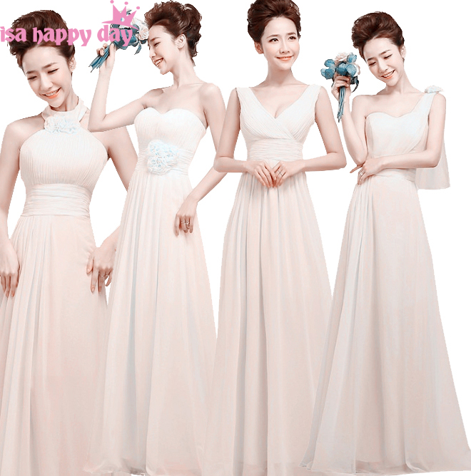 Country Long Elegant Ivory Bridemaids 2018 Cheap