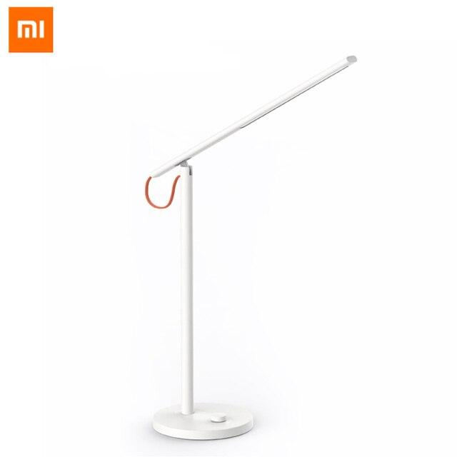 Original Xiaomi mi jia mi Smart LED lámpara de escritorio lámpara de mesa Dim mi ng luz de lectura WiFi habilitado para trabajar con APLICACIÓN DE INICIO Alexa mi 100-240 V