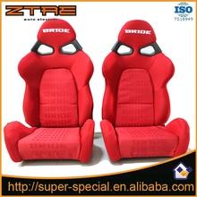 2017 New arrivl 2Pcs FABRIC MATERIAL Racing Seats Black Red Car Auto Sports Racing Seats
