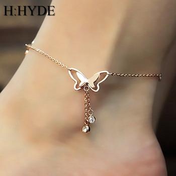 Bransoletka na nogę w kształcie motyla
