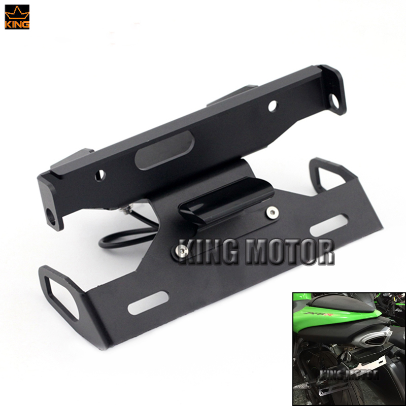 For KAWASAKI ZX6R ZX-6R NINJA 2007-2008 Motorcycle Tail Tidy Fender Eliminator Registration License Plate Holder LED Light mayitr motorcycle steel license plate holder fender eliminator tail tidy for yamaha fz6 fz 6 2006 2008