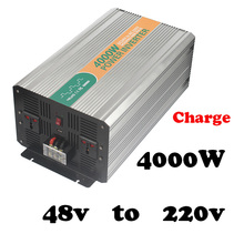 4000W 48v 220/230/240vac single phase power inverter in car with battery charger high power 4kw power converter for car,