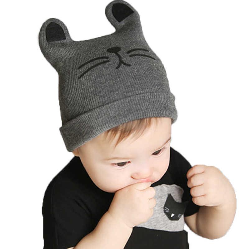 2018ฤดูใบไม้ร่วงฤดูหนาว0-12monthsเด็กหมวกผ้าฝ้ายหมวกหมวกเด็กวัยหัดเดินทารกเด็กผู้หญิงและเด็กผู้ชายถักหมวกGH119เด็กหมวกและหมวก