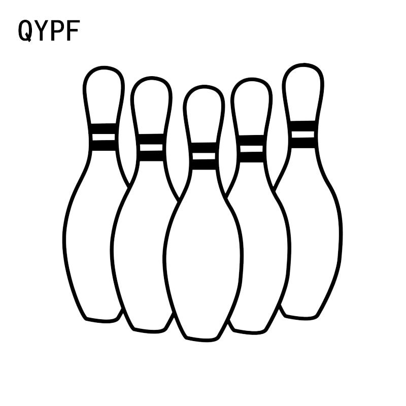 qypf 13 2 13 2cm fashion bowling car stickers graphic silhouette