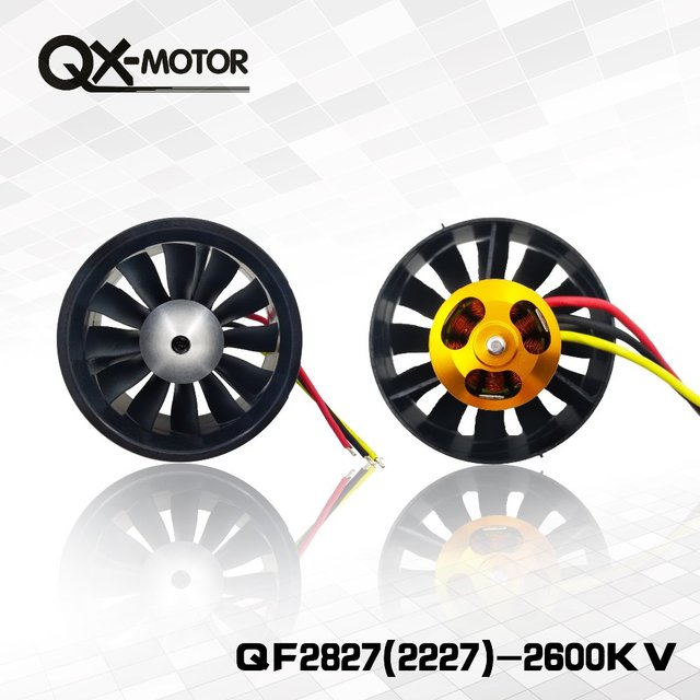 QX-Motor 70mm Electronic Ducted Fan 12 Blades EDF With 2827 KV2600 Brushless Motor Toy For RC Drone Model Parts Wholesale 3