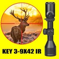 New hot KEY 3 9x42 Rifle Optics Sniper Scope Compact Riflescopes hunting scopes with 20mm/11mm Rail mounts hunting optics