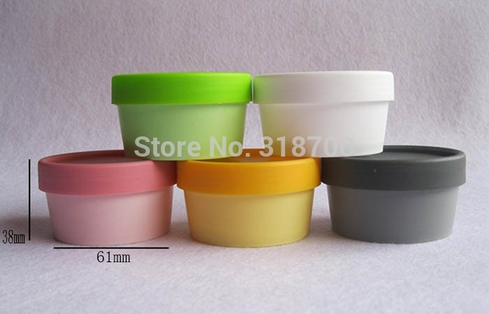 50 X 50g Portable Plastic Facial Cream Jars  50 Gram Gel Cosmetic Bottles Hair Skincare Products Containers