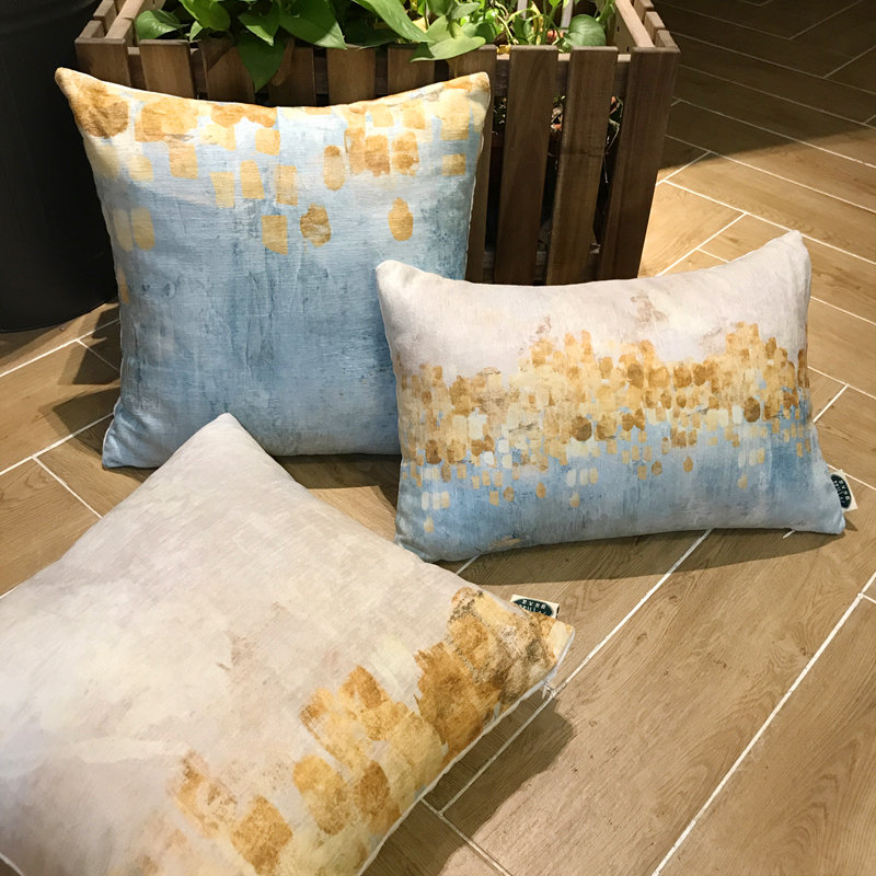 Cotton satin drill sofa cushion home installs place adorn article Wisteria decoration