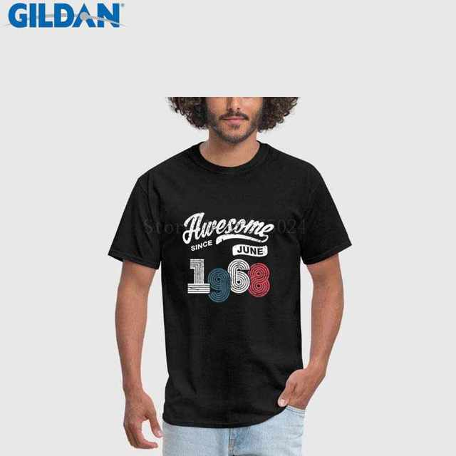 2018 New Fashion Brand Clothing Design Man Tee Shirt 50th Birthday Gift Vintage 1968 T Men Tops Tees